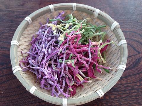 自然栽培のドライラディッシュ(カラフル切干大根)
