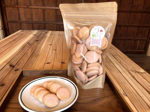 【卵不使用】奈良のいちご古都華と米粉で作った[古都華いちごクッキー] 50枚入り大袋{受注生産]