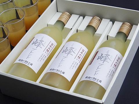 【贈答に✨】贅沢5品種種ブレンドりんごジュース「百年の想い」 720ml 3本セット